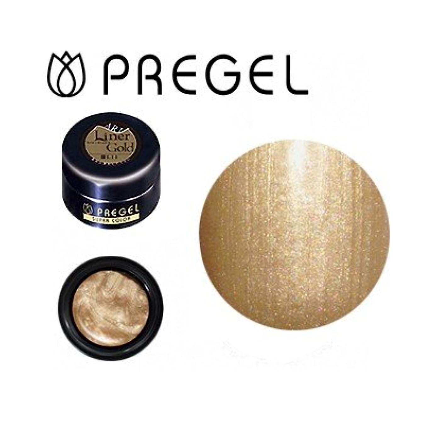 補正反逆逆にジェルネイル カラージェル プリジェル PREGEL スーパーカラーEx ライナーゴールド-P 4g