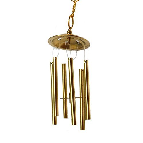 銅製 風水 六管 風鈴 風水古銭
