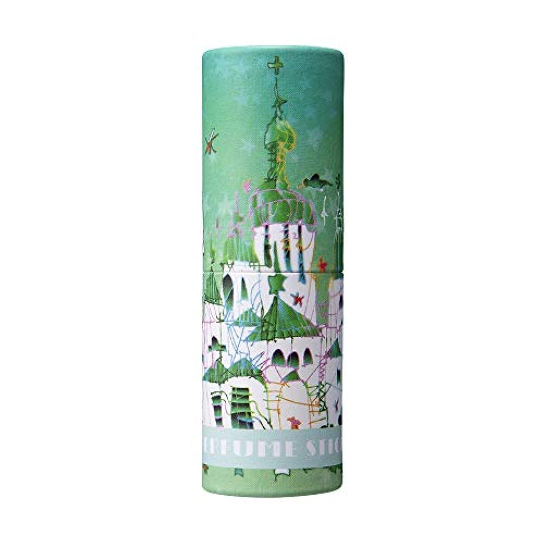 藤色弾力性のあるビルダーパフュームスティック サンクス グリーンアップル&ムスクの香り 世界遺産デザイン 5g