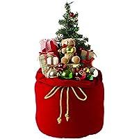 クリスマスツリー ミニツリー 60㎝ 飾り オーナメント ぬいぐるみ クリスマスギフト (レッド)