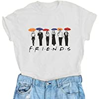 AEURPLT Women Summer Short Sleeve Cute Funny Graphic Vintage T Shirt Tops Tees
