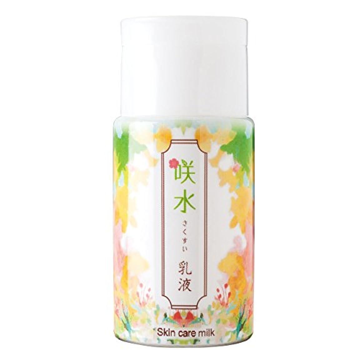 しわ文言方言咲水 スキンケア乳液 100ml リバテープ製薬 日本製 スイゼンジノリ サクラン 乾燥 肌 顔 フェイス