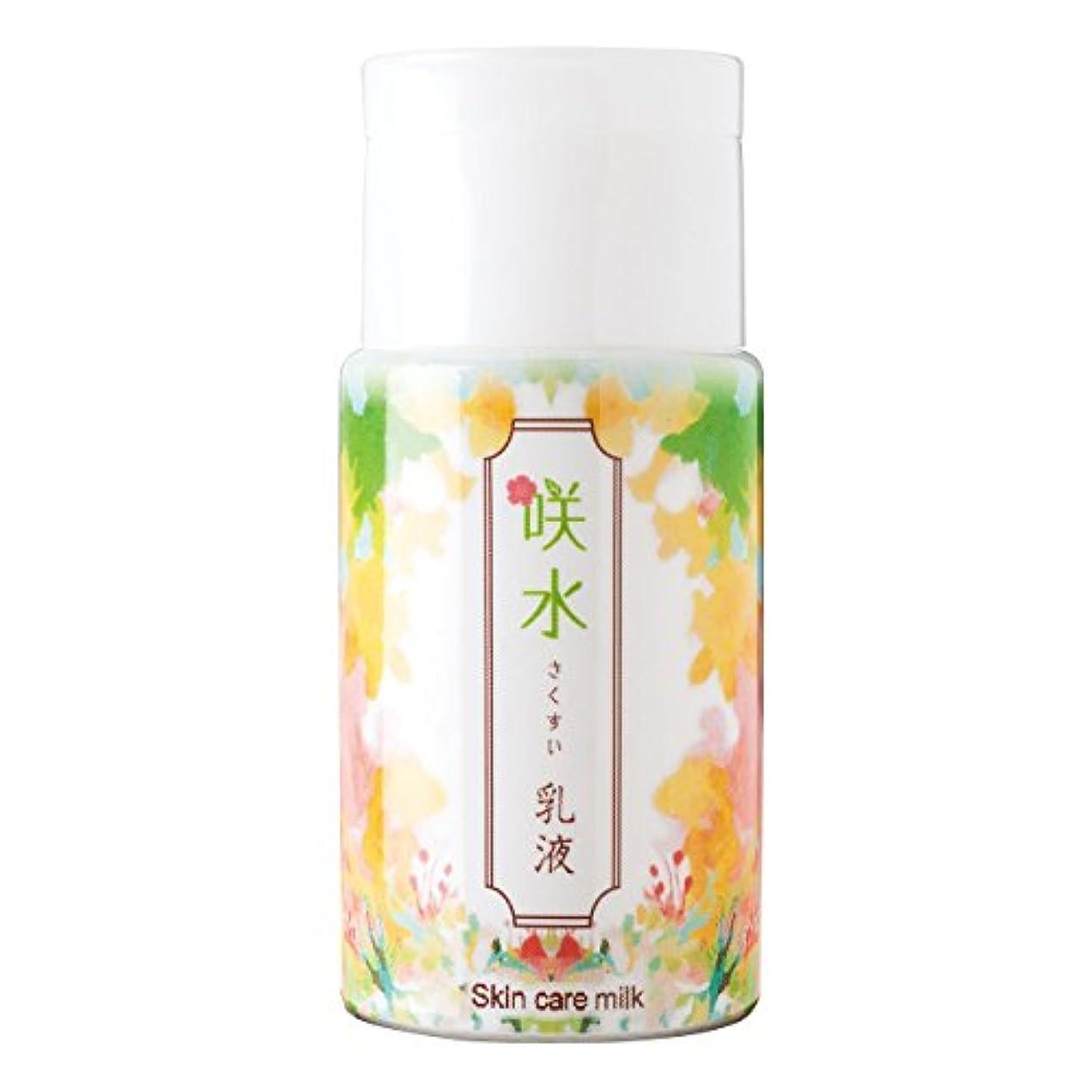 求める結果差別的咲水 スキンケア乳液 100ml リバテープ製薬 日本製 スイゼンジノリ サクラン 乾燥 肌 顔 フェイス