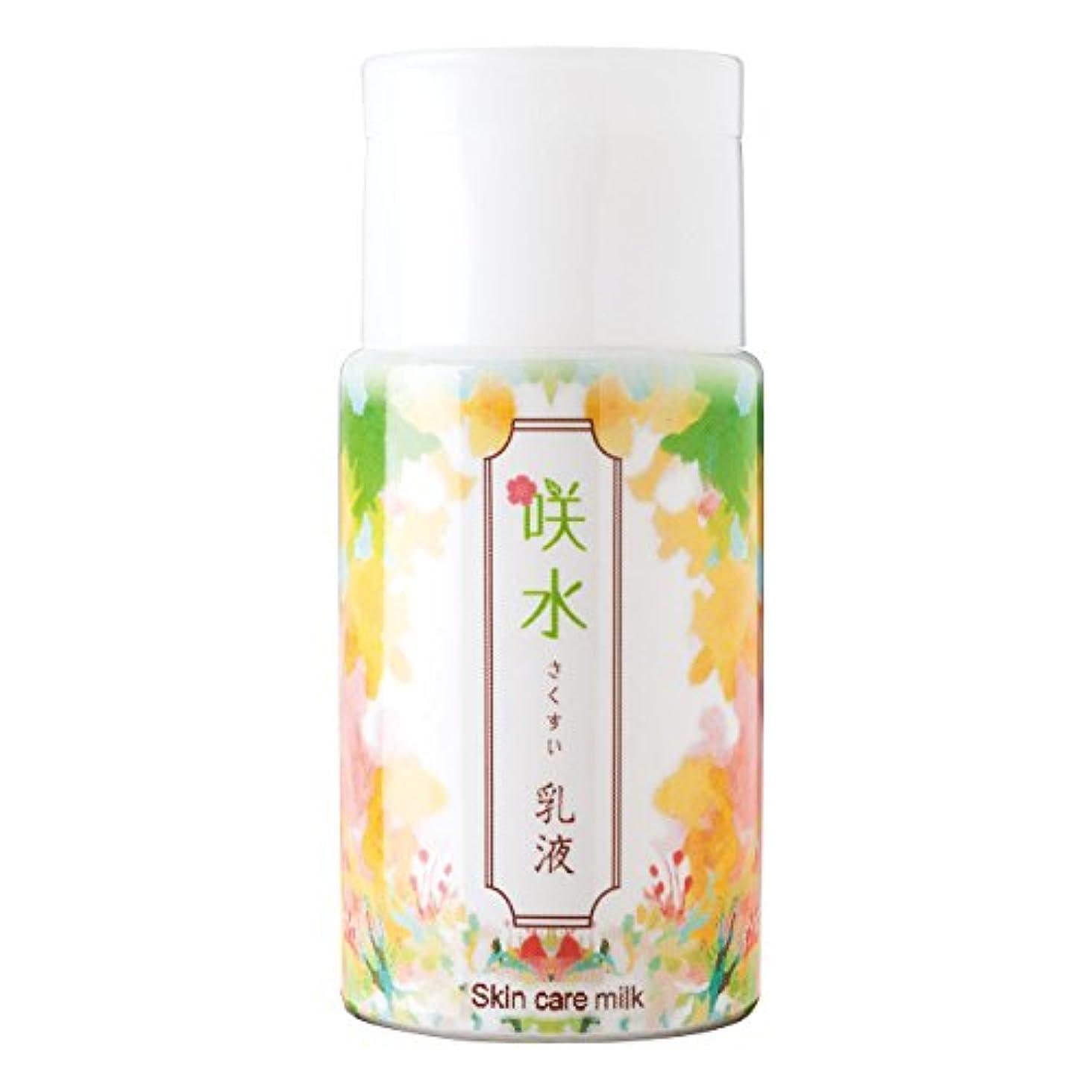 欠陥まろやかな許可咲水 スキンケア乳液 100ml リバテープ製薬 日本製 スイゼンジノリ サクラン 乾燥 肌 顔 フェイス