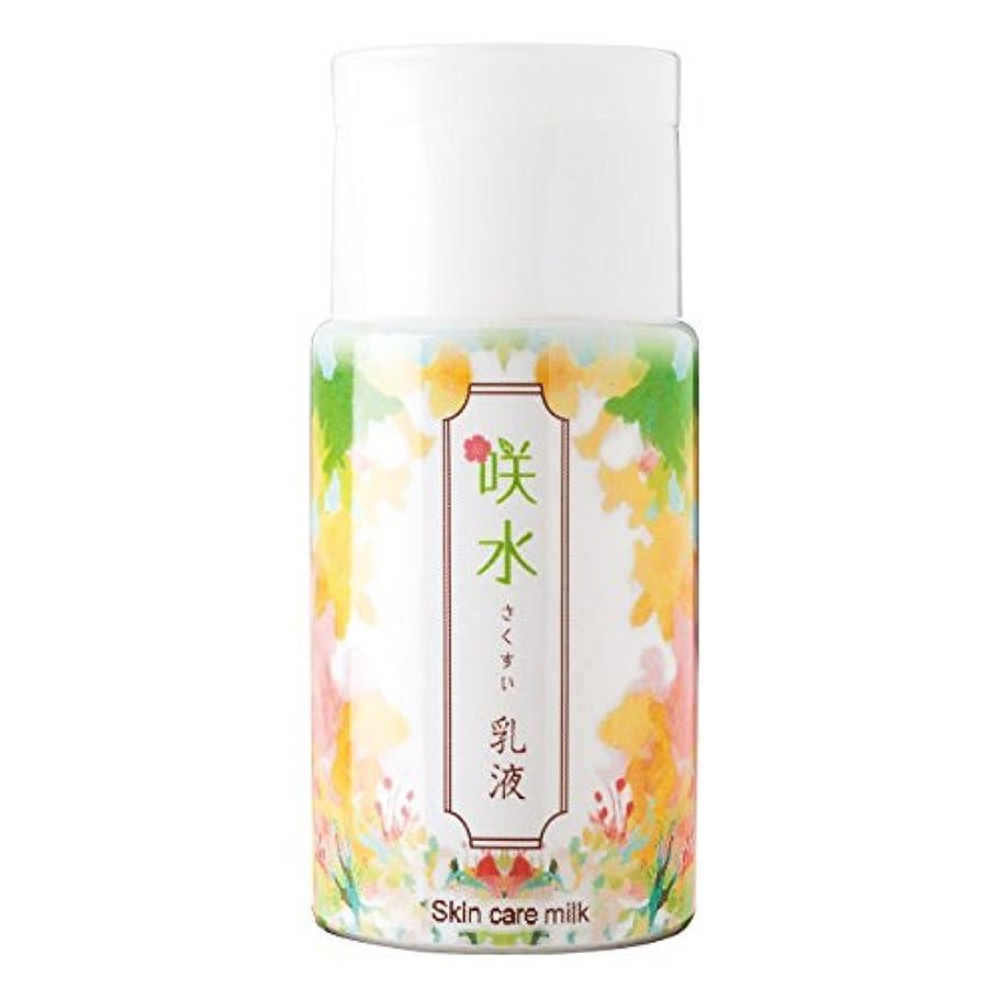 関与する達成可能痛み咲水 スキンケア乳液 100ml リバテープ製薬 日本製 スイゼンジノリ サクラン 乾燥 肌 顔 フェイス