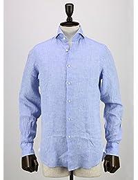GUY ROVER ギ・ローバー メンズ リネンシャツ 2250W2410L 571300 03 (ブルー)