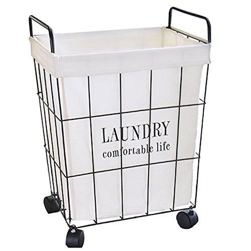 汚れた衣類の収納用バスケット、車輪付きの取り外し可能な家庭用...