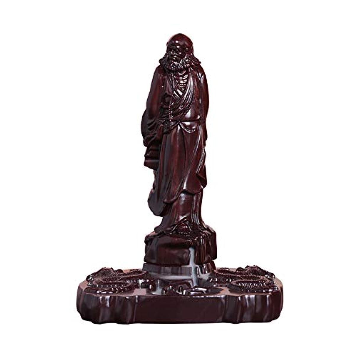 大事にする良心的幸運なPHILOGOD マホガニー香炉 ダルマ 菩提 香立て ダルマ 木彫り工芸品逆流香炉 お香 ホルダー 香皿