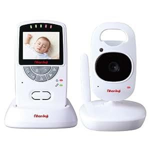 日本育児 デジタルカラースマートビデオモニターII 親機重さ約115g 子機重さ約125g 5000004001 0歳以降対象 さらに映像が滑らかになったビデオモニター