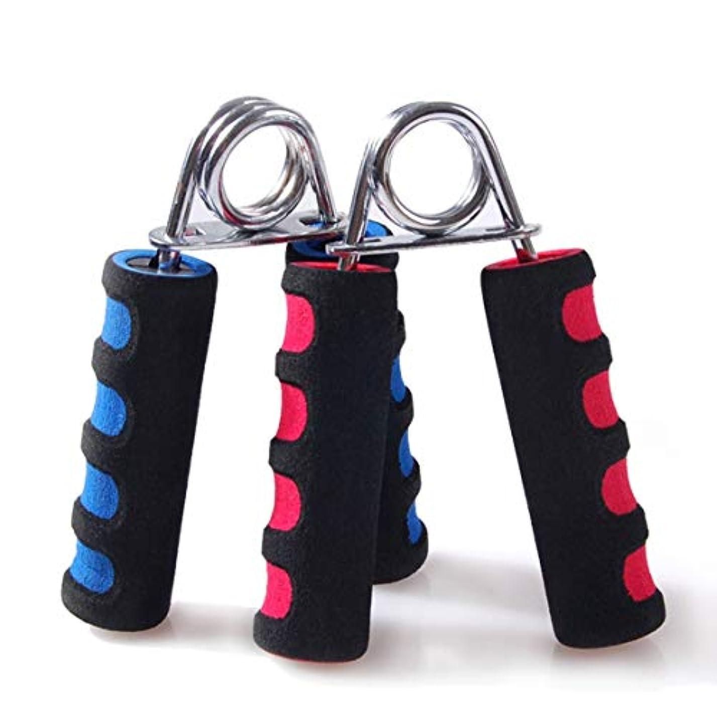退却治療十ハンドグリッパーアーム手首エクササイザーフィットネスグリップジムと毎日の運動のためのヘビーストレングストレーナー-カラーランダム