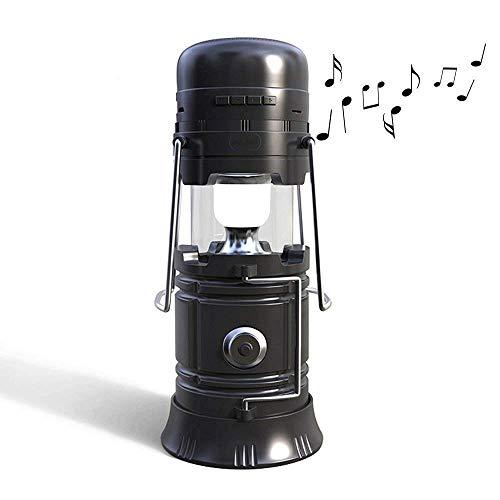 多機能 Bluetoothスピーカー、elecfanJ 懐中電灯 ソーラーパネル付き LEDランタン...