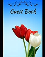 Guest Book: Stylish and light design notebook and pages with flowers and a new character for birthday parties, weddings, family events, you can keep a beautiful anniversary for life.
