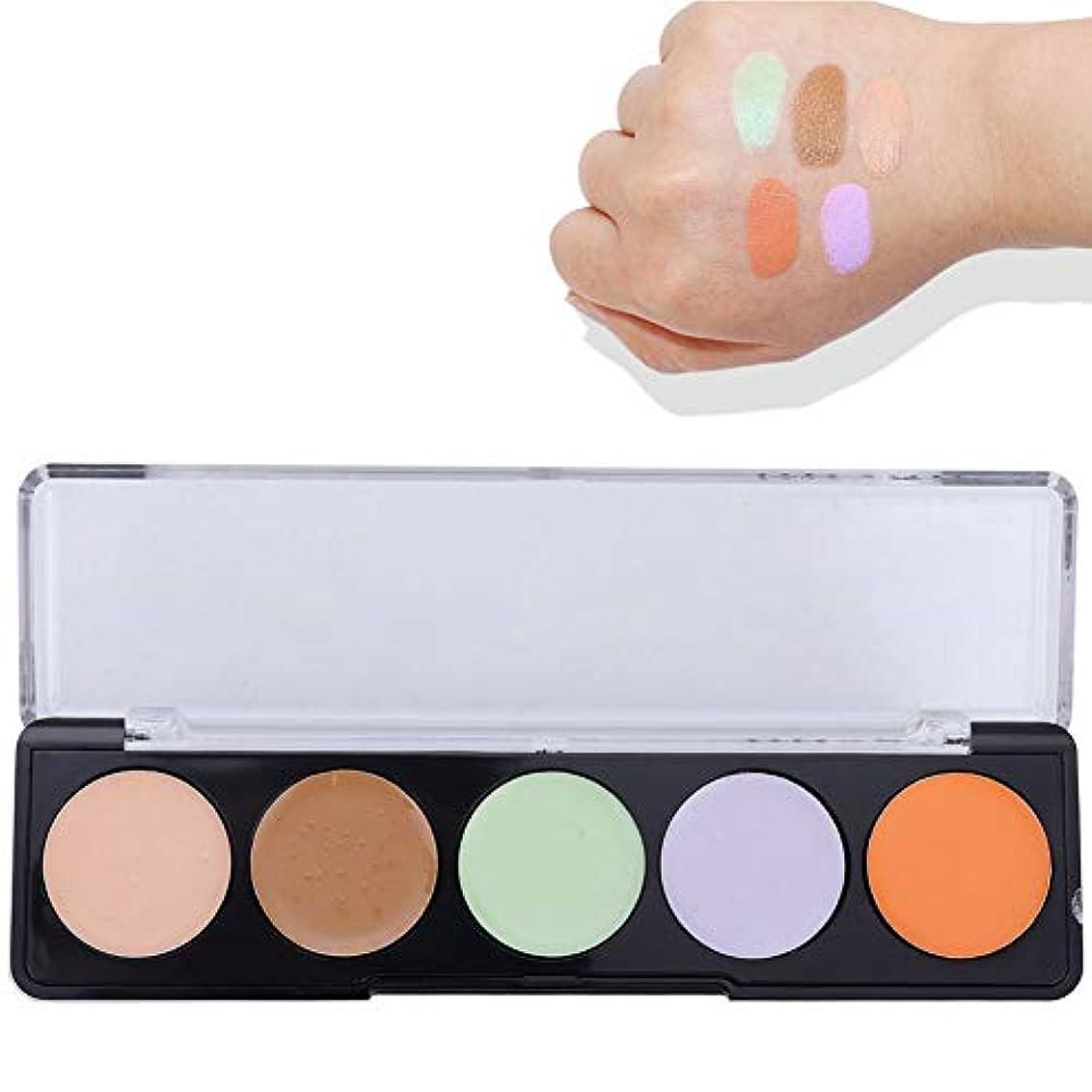 硫黄クラッシュラベフェイシャルコンシーラークリーム メイクアップコンターコンシーラーパレット化粧品を明るくする5色5.4g(02)