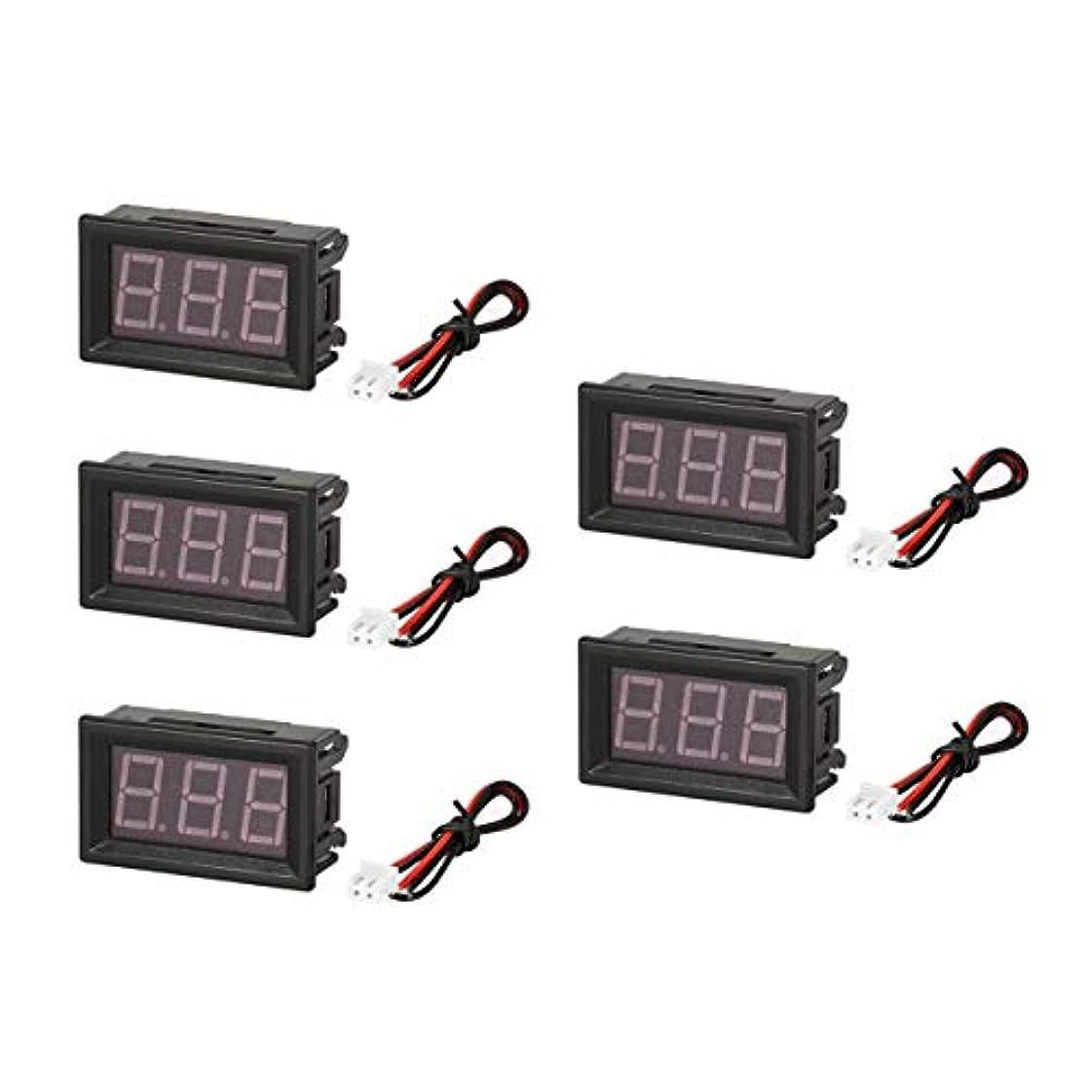 素晴らしいです南ズボン5PCS 5-130V 0.56in 3線式LEDデジタル電圧計電圧計カーボルトテスター
