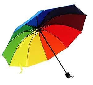 (メイドインコスモス) MADE IN COSMOS 晴雨兼用 折り畳み傘 グラデーション KASA5 (レインボー)