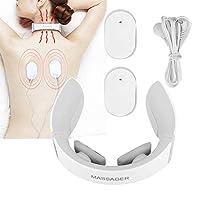 理性的な頚部マッサージャー、電気首の椎骨のマッサージャー首の痛み、肩の痛みのためのミニU字型パルス振動マッサージ装置