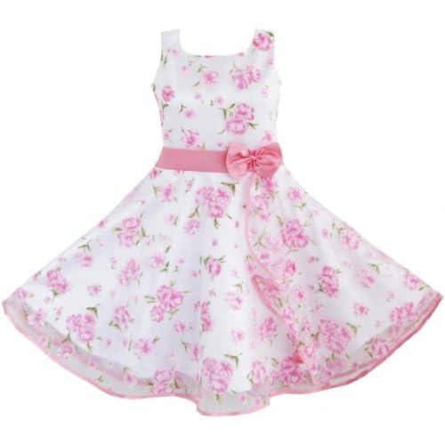 DB75 こどもドレス キッズドレス フラワードレス 結婚式 発表会 3 層 ピンク ウェーブ 150cm