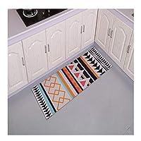 @プチコット Carvapetノンスリップキッチンエリアマットラバーバッキング玄関マット、現代Hoeme装飾洗えます モダンエリアラグ (Color : A, Size : 50*120cm)