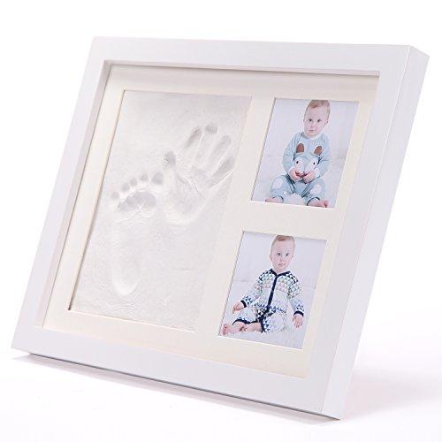 赤ちゃんの手形 ベビーフレーム記念品 足形フレーム プライスレスなメモリ アクリルガラス 非毒性粘土 木製フレーム 赤ちゃんギフト 白