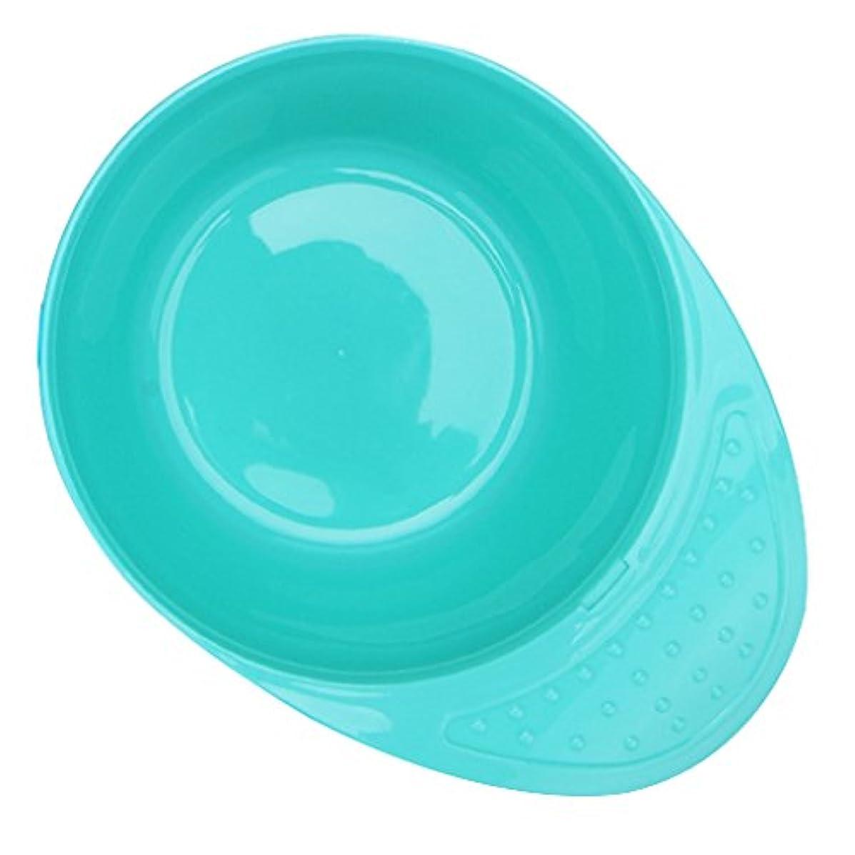 ビタミン首尾一貫した代表ヘアカラーボウル ミキシングボウル ヘアカラー ヘア染め サロン 髪着色 DIY ハンドル付き 持ちやすい 4色選べる - シアン