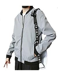 maweisong メンズファッションロングスリーブ軽量ボンバージャケット野球コート