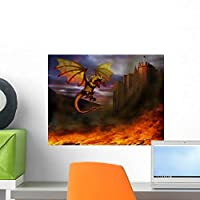 Dragon Wall Mural by Wallmonkeys Peel and Stick Graphic (18 in W x 14 in H) WM272213 [並行輸入品]