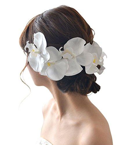 (ミュゼ) ヘッドドレス 髪飾り 花 胡蝶蘭(こちょうらん)...