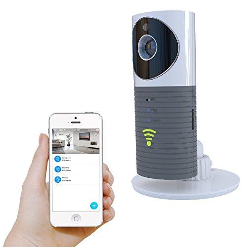 Platerスマートベビーモニター Wifiビデオモニター 防犯カメラ [双方向音声通信]P2P 暗視 撮影 動作検知 TF Card サポートIphone/Ipad/Android スマホ対応 (グレー)