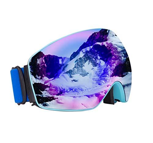 OMG_Shop スキーゴーグル スノーボードゴーグル メンズ レディース キッズ 曇り止め 冬用ゴーグル スノーモービル 防風防塵メガネ UV保護 スケート用眼鏡 メガネ オートバイ サイクリング用メガネ OTG 7.1 inches(l) x 3.9