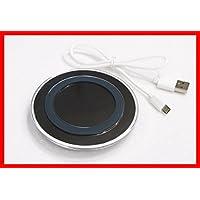 スマートフォン用 LEDワイヤレス充電器 UJ-FACTORY ブラック iPhone8、8Plus、Galaxy S8/ S7edge などのQi(チー)対応機種 (※iPhoneX除く)