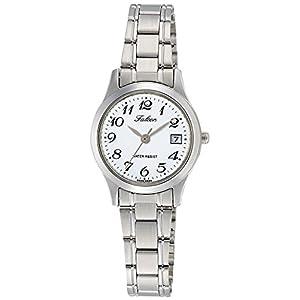 [シチズン キューアンドキュー]CITIZEN Q&Q 腕時計 Falcon ファルコン アナログ ブレスレット 日付 表示 ホワイト D009-204 レディース