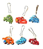 HERMES バッグ 6 pcs Pixar Cars # 1 Zipper Pull / Zip pull Charms for Jacket Backpack Bag Pendant