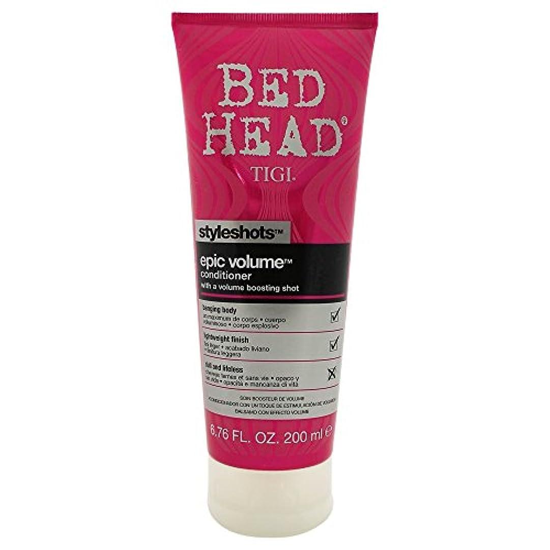 疲れた唯一すみませんTigi Bed Head Style Shots Epic Volume Conditioner 200ml [並行輸入品]