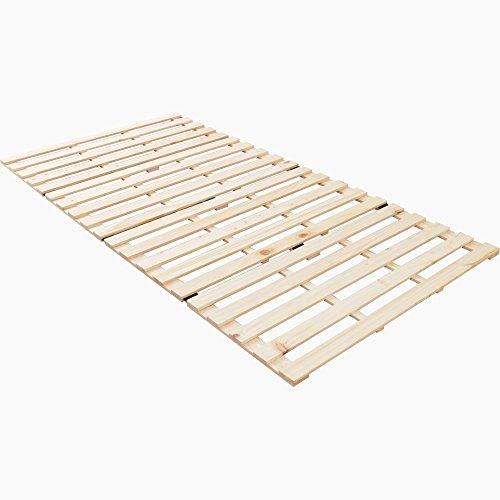 アイリスプラザ すのこマット 檜 四つ折り シングル 天然木 折りたたみ ベッド通気性
