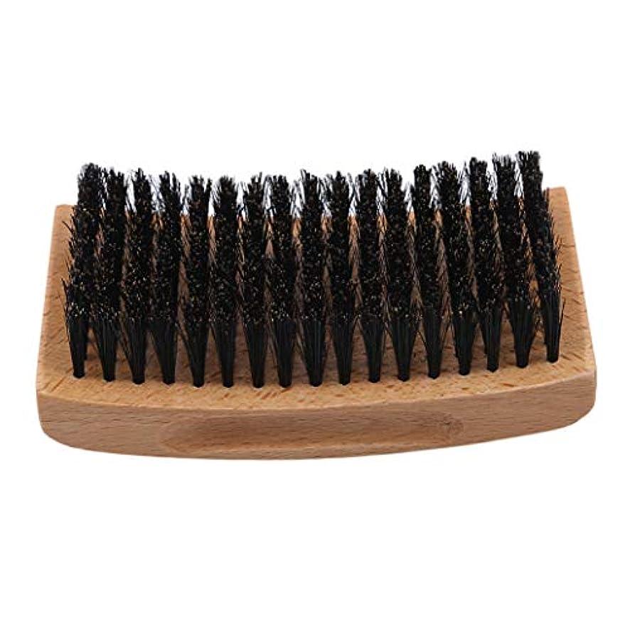 書道単調な潜在的なGOMYIE あなたの顔の毛をなだめ、柔らかくすることができる堅いたてがみの男性のピグテールの毛深いひげのブラシ(スタイル4)