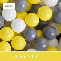 LIUFS-オーシャンボール 屋内マリンボールプールプラスチックボールマルチカラーマッチングゲームフェンスホーム子供のおもちゃ (色 : C1)