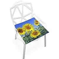 座布団 低反発 ひまわり 夏 ビロード 椅子用 オフィス 車 洗える 40x40 かわいい おしゃれ ファスナー ふわふわ fohoo 学校