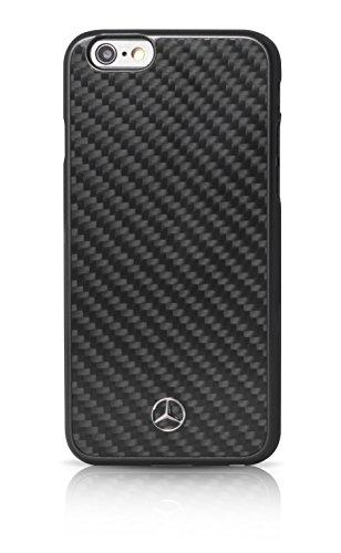 エアージェイ メルセデス・ベンツ(Mercedes-Benz)公式ライセンス品 iPhone6Plus/6SPlus専用 リアルカーボンバックカバー ブラック MEHCP6LRCABK
