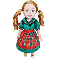 My Brittany's Holiday Dress for American Girl Dolls Wellie Wishers