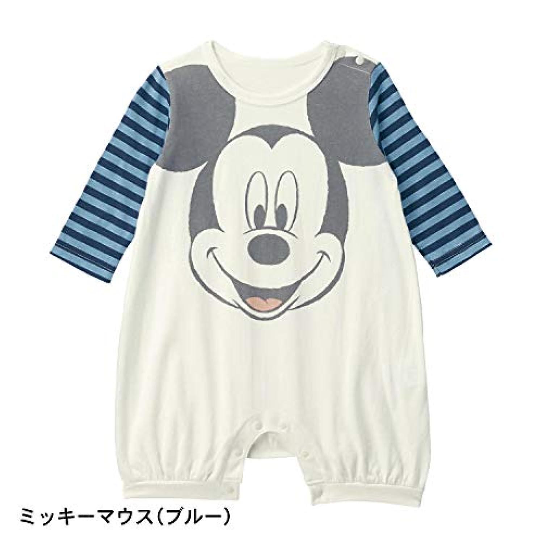 [ベルメゾン] ディズニー ビッグフェイス カバーオール ミッキーマウス(ブルー) サイズ:90
