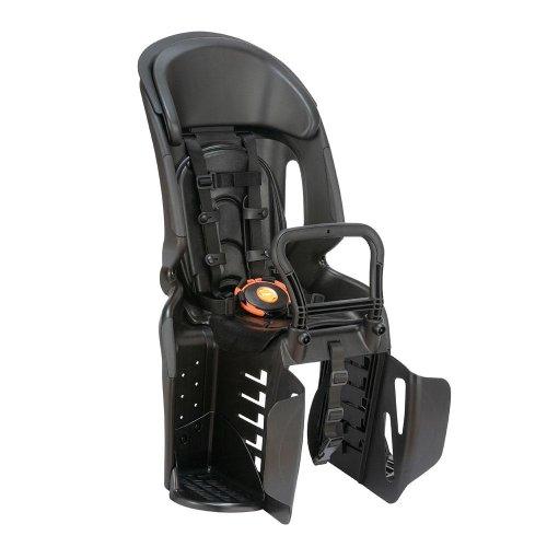OGK技研 ヘッドレスト付コンフォートうしろ子供のせ ブラック・ブラック 超衝撃吸収パッド採用 1歳以上~6歳未満 身長115cm以下 5点式シートベルト ステップ付  RBC-011DX3