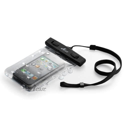 Acase 防水ケース クリア XL ストラップ 付 for iPhone6 4.7 / iPhone5S / iPhone5C / GALAXY S4 / ARROWS / AQUOS Phone / Xperia Z Waterproof シースルー 防水 ケース 防水保護等級 : IPx8 | iPhone 6 4.7インチ / iPhone 5S 対応