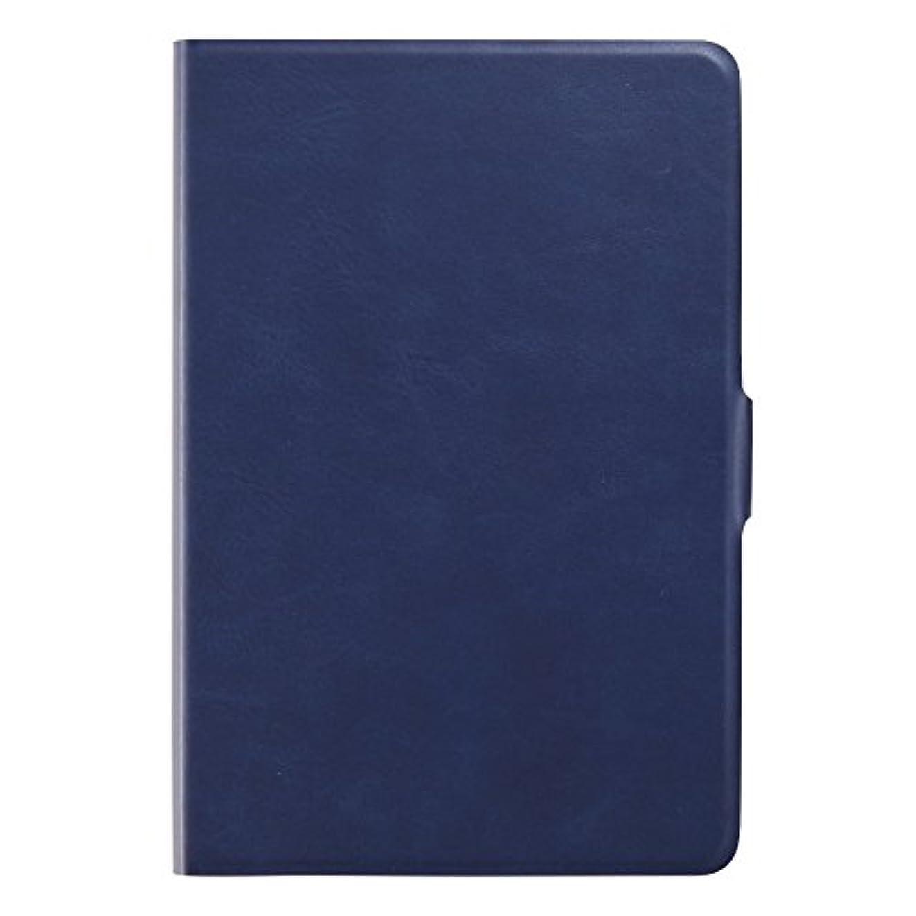 韻ペパーミント銃Simplism iPad mini4 [FlipNote Slim] フリップケース スリム ネイビー