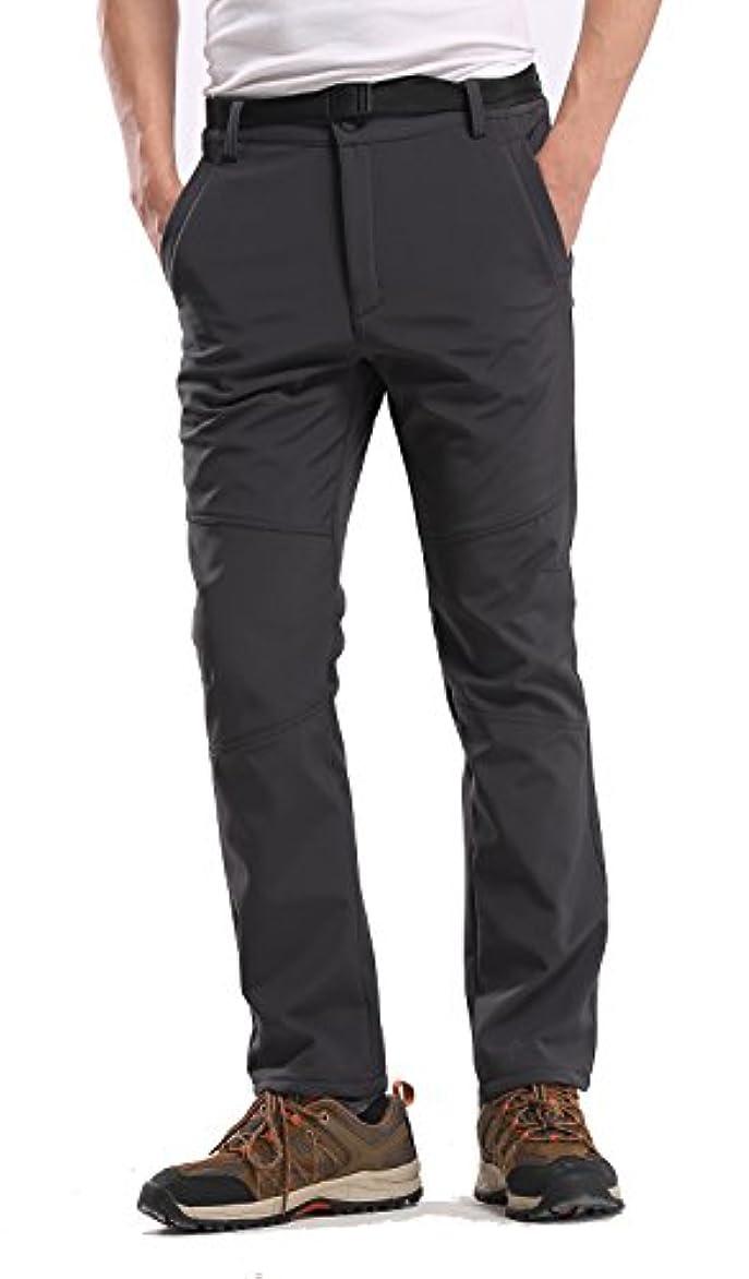 印象的スタンドスロット登山パンツ ハイキング アウトドア 秋冬 裏起毛 厚手 防寒 保温撥水防風 男女兼用 Belike