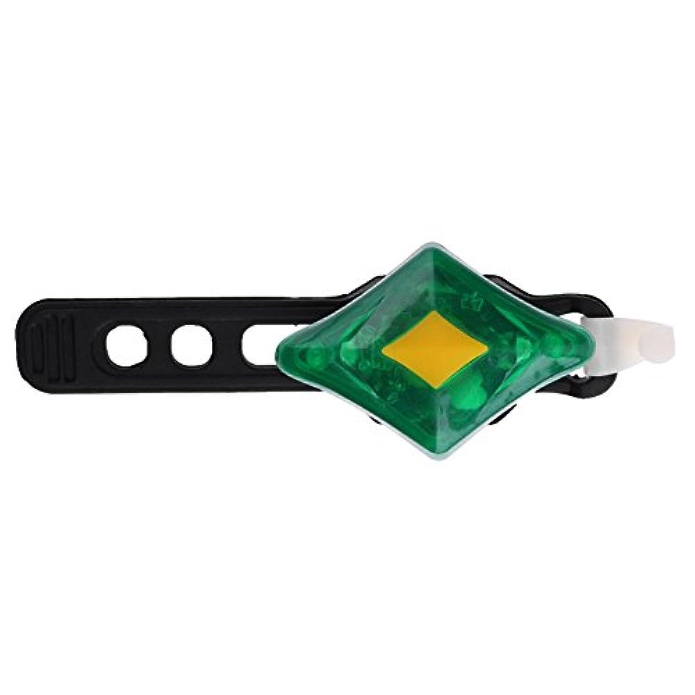 MKchung MTB ダイヤモンド灯台 USB充電式 自転車ライト 自転車ヘッドライト 自転車の安全警告灯 LEDマウンテンバイクテールライト フロントライト 5モード 警告ランプ グリーン