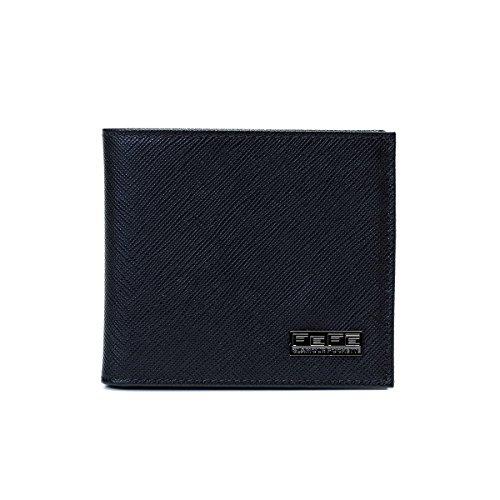 [フェフェ] FEFE 革小物 レザープリント 2つ折り財布 イタリア製 ブラック