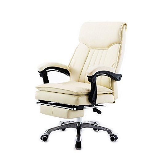 牛本革 エアープレジデント (アイボリー) -903IYRR- オフィスチェアー 社長椅子 160度リクライニング リクライニングチェア オットマン パソコンチェアー オフィスチェア パソコンチェア デスクチェア