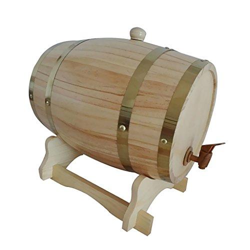 Baosity 4色選択 木製 ワインバレル 1.5L ビール 樽 ウィスキー 醸造 宴会 パーティー 全2サイズ - 木材色, 158x 238mm