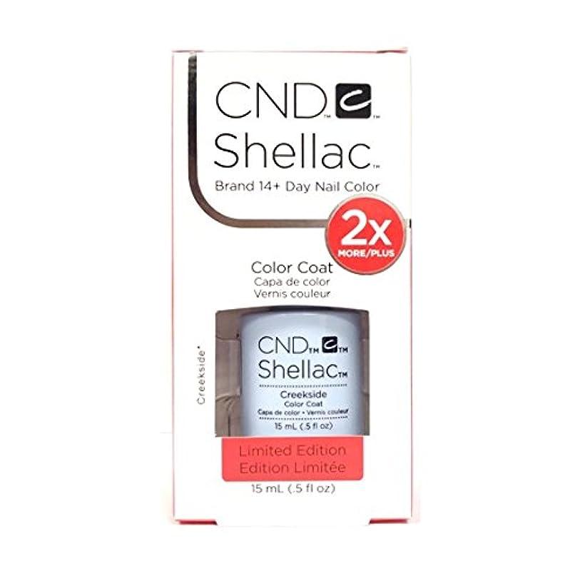 盲目あなたのもの受動的CND Shellac - Limited Edition! - Creekside - 15ml / 0.5oz