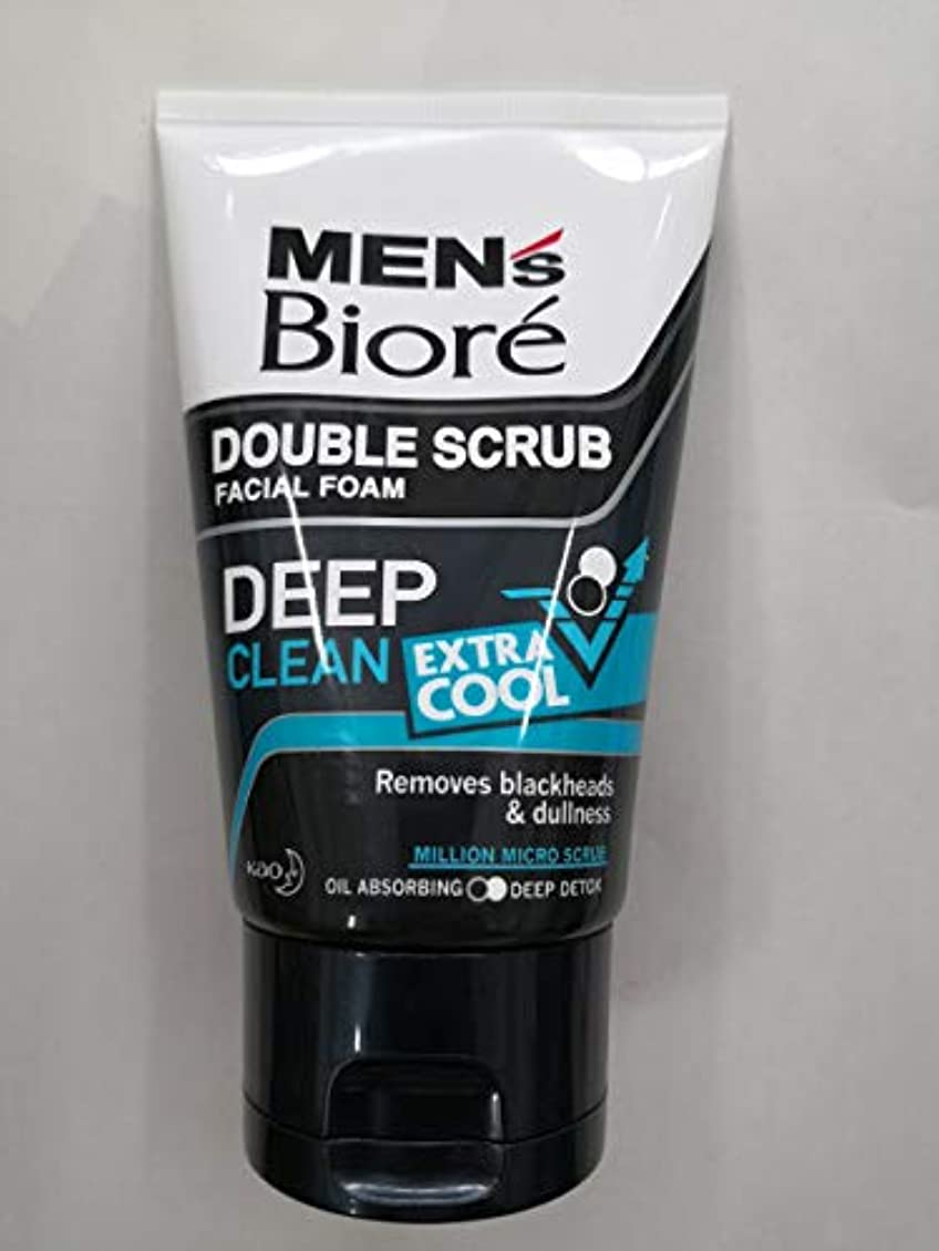 メガロポリス参加する洞察力Biore Men's ダブルスクラブ余分なクールな顔泡100グラム、なめらかな明るい&健康な皮膚。 - 非常にクール&さわやかな感覚。